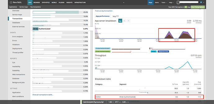 Wrong response time line for  Net app -  NET Agent - New Relic