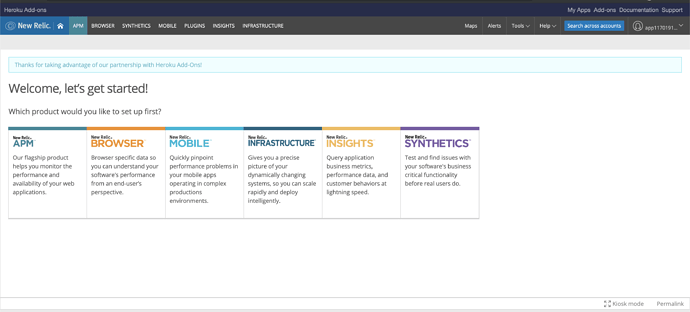 Problem setting up New Relic Browser Pro with Heroku addon